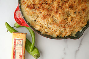 Red Butte Hatch Mac-n-cheese with Roasted Hatch Chilies