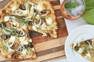 Teahive Pizza with Figs, Fennel, and Caramelized Onions