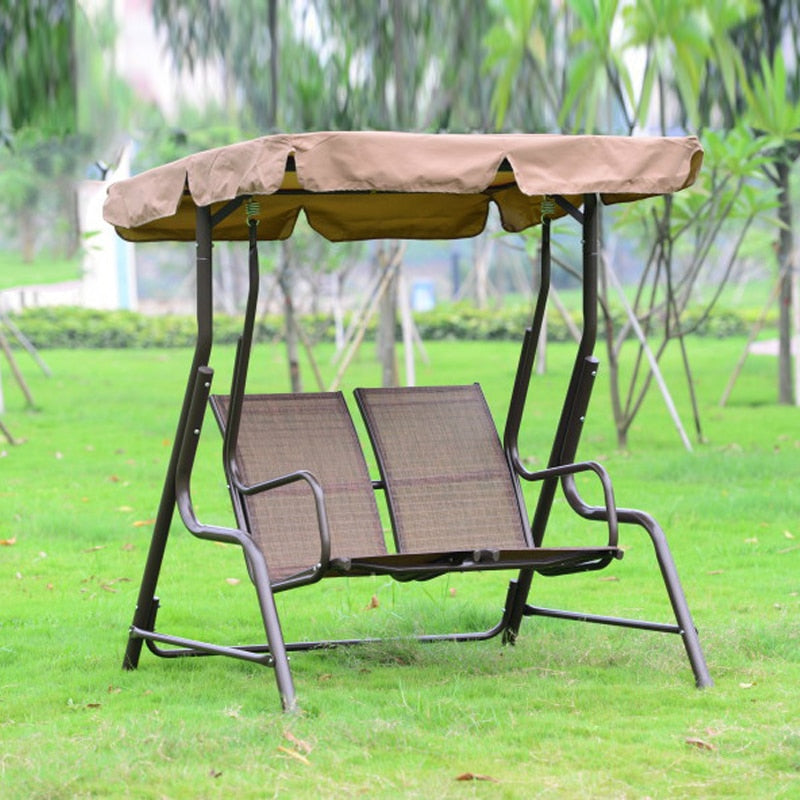 Love seater patio garden swing chair hammock outdoor sling cover bench with canopy for adults