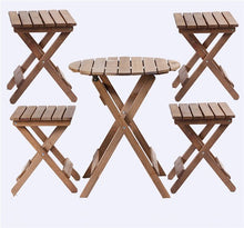 Load image into Gallery viewer, 5 pieces Outdoor Wood Patio Furniture Rustic Finish -AJLhomedecor.com