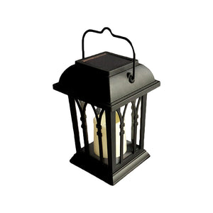 Vintage LED Solar Lantern Lights Outdoor Hanging Light Candle Lantern Solar Powered Garden Lamp for Garden Lawn Patio Yard Pathway Driveway
