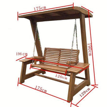 Load image into Gallery viewer, Schommel Balkon Patio Salon Exterieur Vintage Shabby Chic Outdoor Wooden Garden Furniture Retro Mueble De Jardin Swing Chair