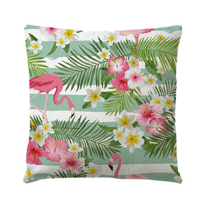 Flamingo Throw Pillow Covers Square Cushion Covers for Outdoor Indoor Pillow