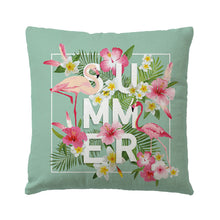 Load image into Gallery viewer, Flamingo Throw Pillow Covers Square Cushion Covers for Outdoor Indoor Pillow