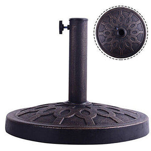 Costway 17.5'' Umbrella Base Stand Market Patio Standing Outdoor Living Heavy Duty (Round)