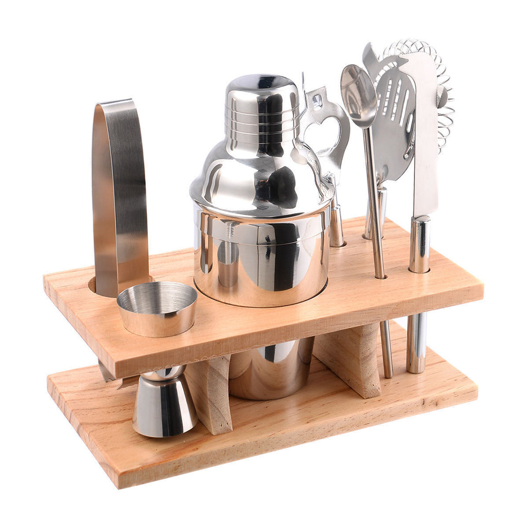 Costway Stainless Steel Cocktail Shaker Mixer Drink Bartender Martini Tools Bar Set Kit