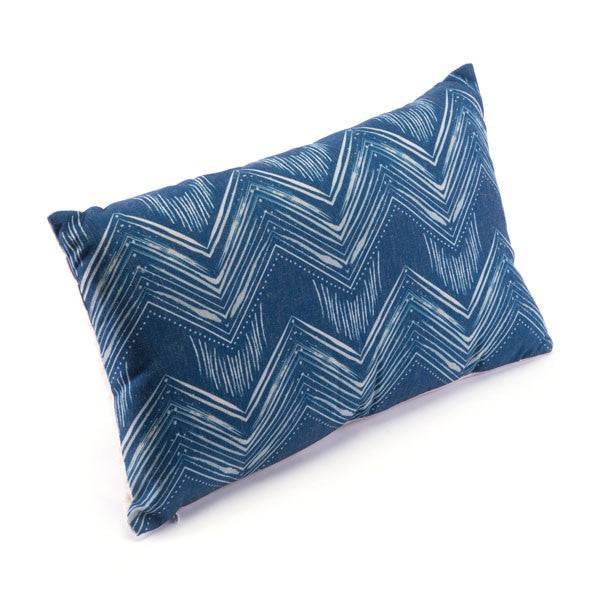 Zuo Ikat Pillow 3 Blue & Natural