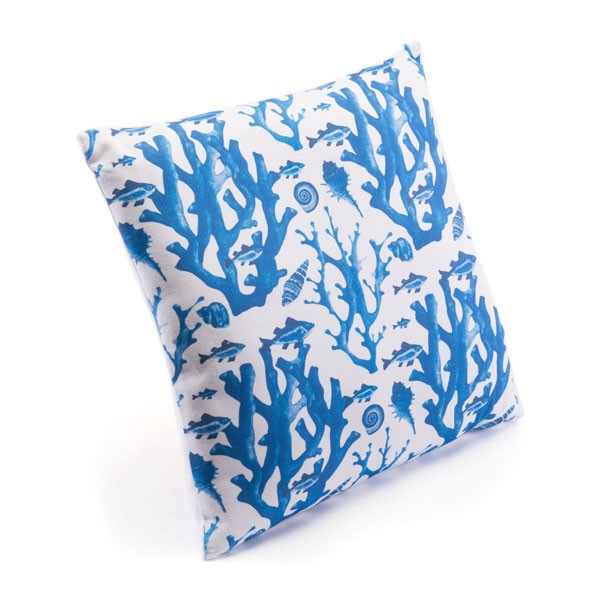 Zuo Blue Reef Pillow Blue & White