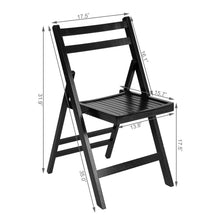 Load image into Gallery viewer, Set of 4 Solid Wood Folding Chairs