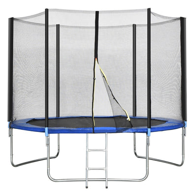 10 ft Combo Bounce Jump Safety Trampoline with Ladder-https://ajlhomedecor.com