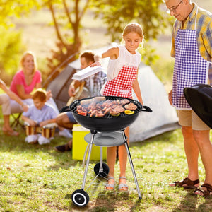 Outdoor Kettle Charcoal Grill with Wheels