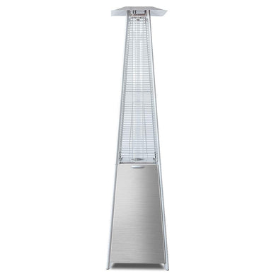 40000 BTU Stainless Steel Pyramid Patio Heater with Propane Glass Tube