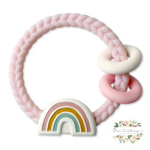 Rainbow Teething Rattle