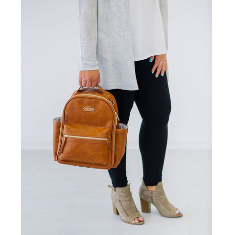 Cognac Mini Backpack Diaper Bag by Itzy Ritzy