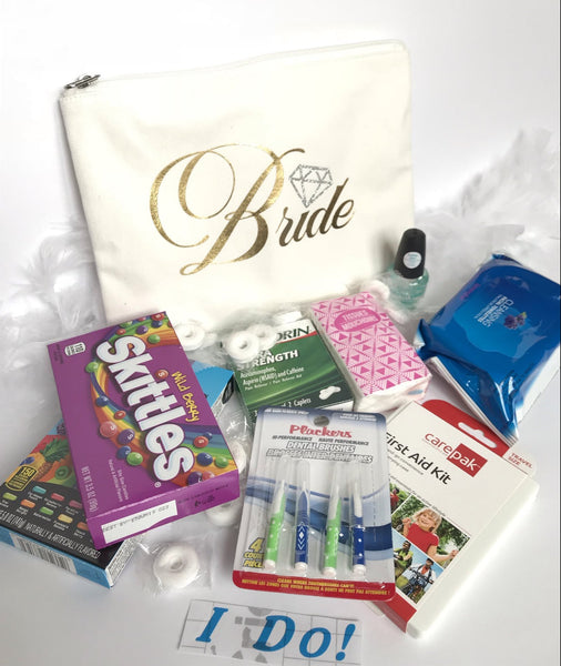 Monogram Bride Tote with Cosmetic Bag