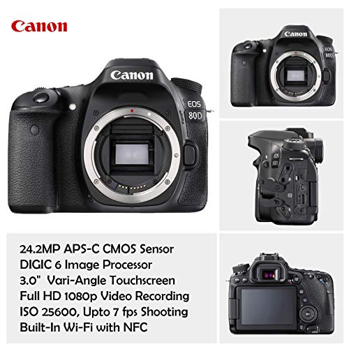{Hot Camera} Canon EOS 80D DSLR Camera Deluxe Video Creator Kit