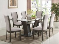 CAMELIA GREY DINING 7PC