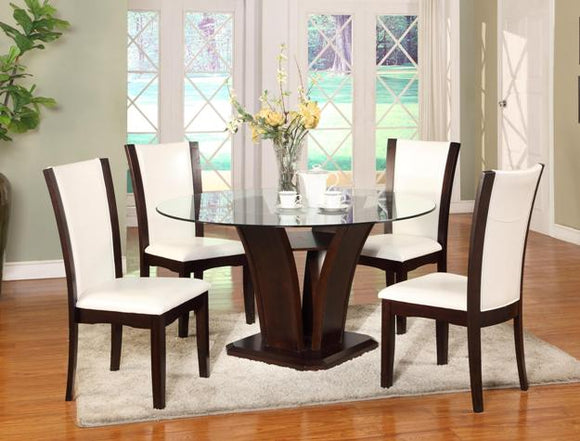 CAMELIA 54RD DINING SET 5 PC WHITE