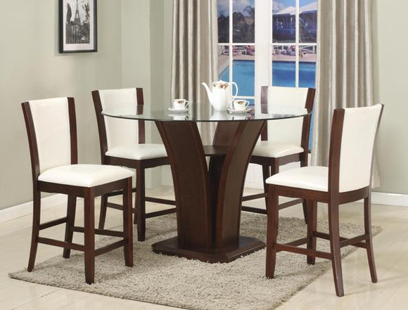 CAMELIA COUNTER HEIGHT DINING SET WHITE