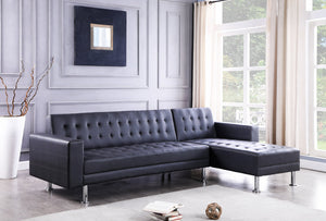 Bobby - 2PC Sectional Black ***NEW ARRIVAL*** HAPPY