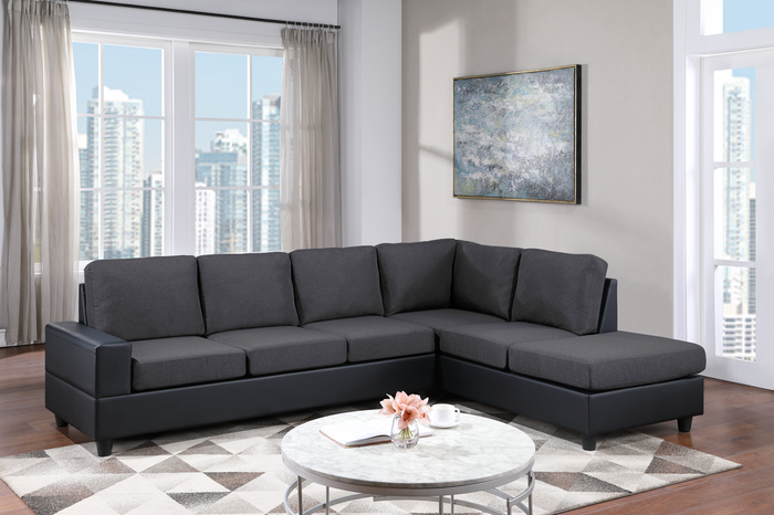 Wow - Black Sectional **NEW ARRIVAL**