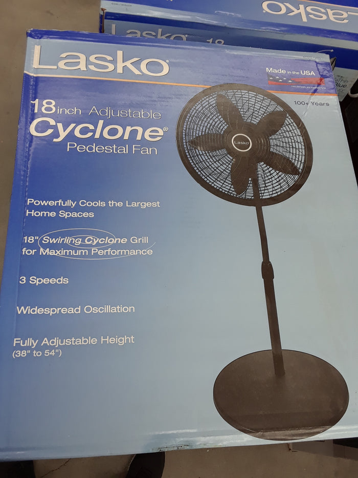 Cyclone 18 in. Adjustable Pedestal Fan