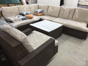 Liva Springs Grandeur All-Wicker 6 pieces Outdoor Patio Sectional Set with Coffee Table