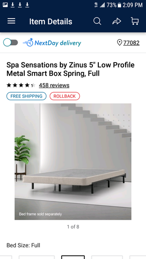 "Spa Sensations by Zinus 5"" Low Profile Metal Smart Box Spring, Full  http://www.walmart.com/ip/Spa-Sensations-by-Zinus-5-Low-Profile-Metal-Smart-Box-Spring-Full/53836841"