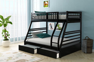 Twin Over Full + 2 Drawers Bunk Bed