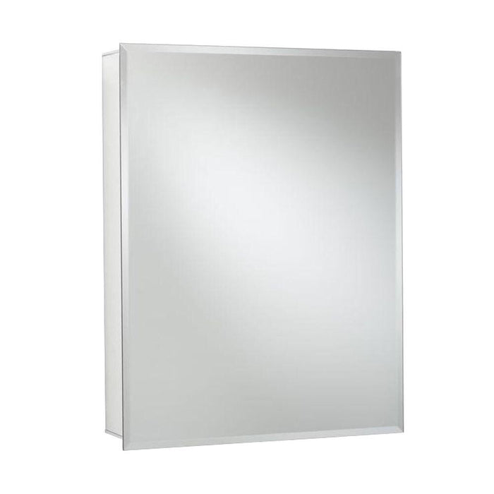 Croydex 24 in. W x 30 in. H x 5-1/4 in. D Frameless Aluminum Recessed or Surface-Mount Medicine Cabinet with Easy Hang System
