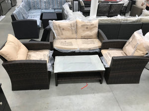 Brown Patio Set 3 pieces