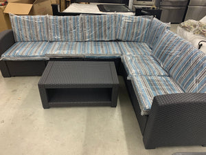 Lizkona 7 pc sectional patio set ESKI