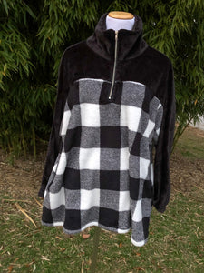 Sweet Plaid Plus Pullover