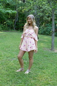 Floral Cold Shoulder Romper