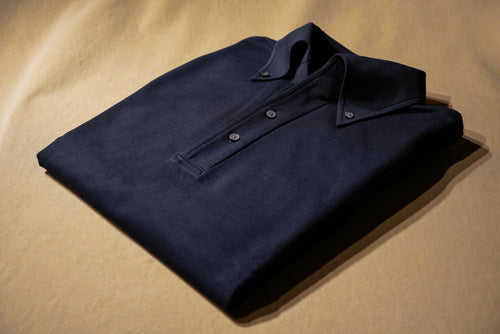 True Navy Polo Shirt w/ Button Down Collar