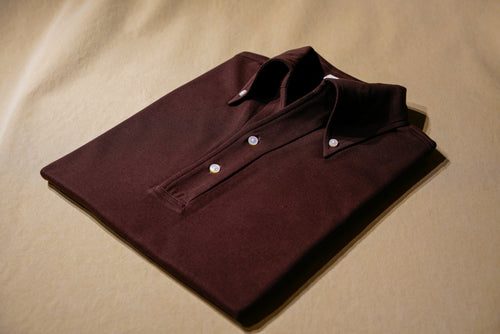 Dark Maltesers Choc Polo Shirt  w/ Button Down Collar