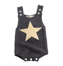 Load image into Gallery viewer, Knitted Twinkle Star decor Suspender Bodysuit