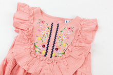 Load image into Gallery viewer, Olivia Pink Embroidered Dress