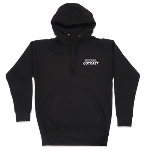 Social Outcast Hoodie in Black and White