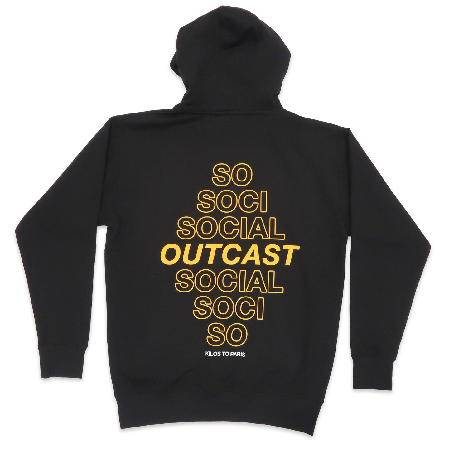 Social Outcast Hoodie in Black and Yellow