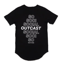 Load image into Gallery viewer, Social Outcast Scoop Tee in Black and White
