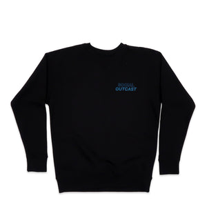 Social Outcast Hoodie in Black and Turquoise