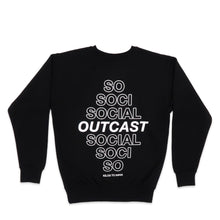 Load image into Gallery viewer, Social Outcast Sweater in Black and White