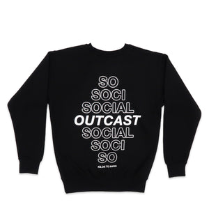 Social Outcast Sweater in Black and White