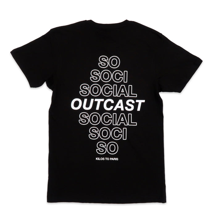Social Outcast Tee in Black and White