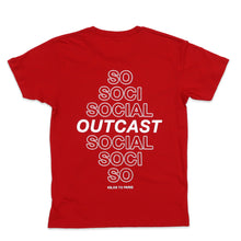 Load image into Gallery viewer, Social Outcast Tee in Red and White