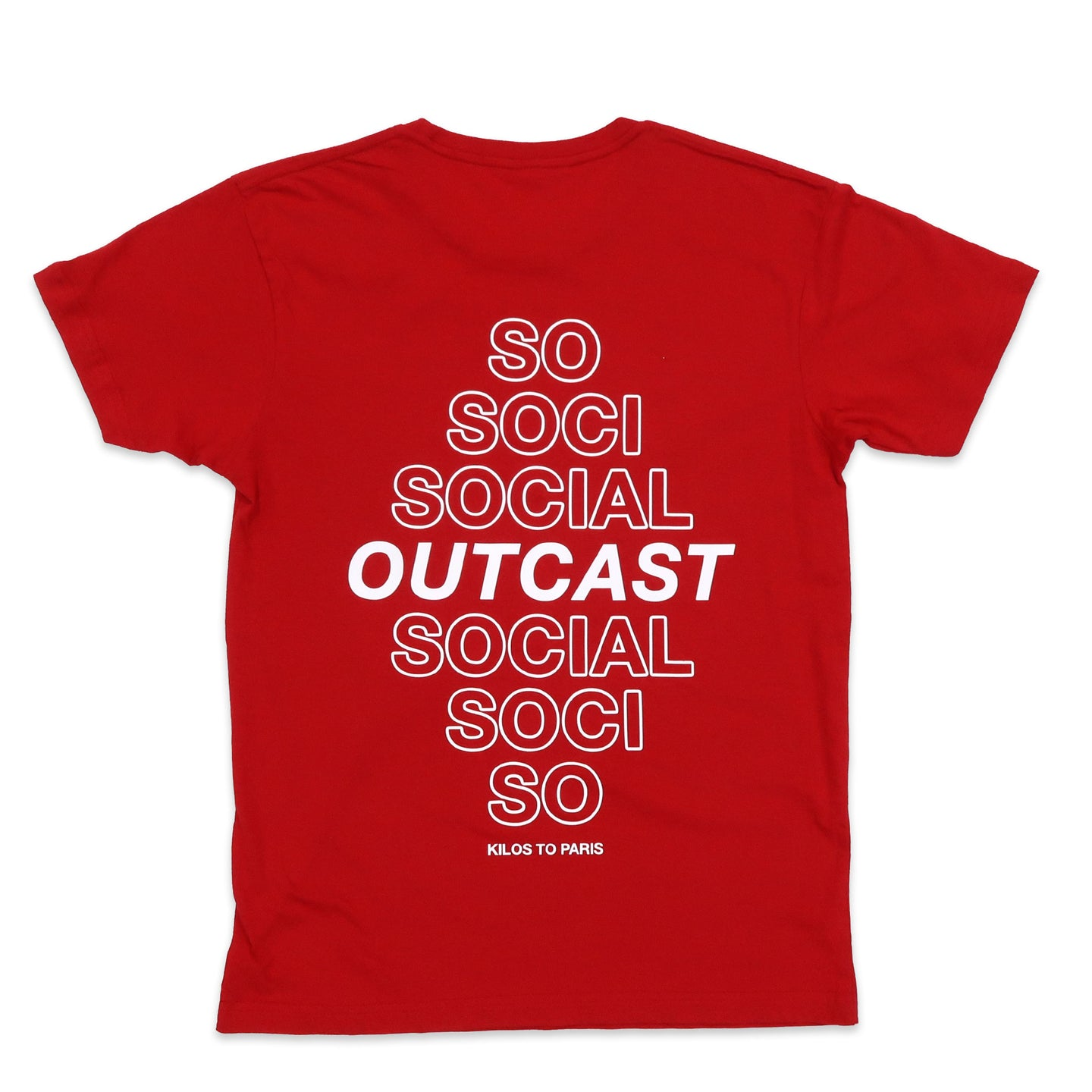 Social Outcast Tee in Red and White