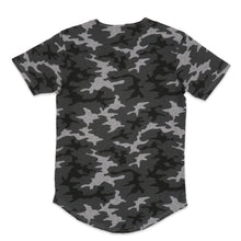 Load image into Gallery viewer, Elongated Basic Gray Camo Scoop Tee