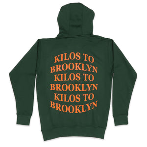 Kilos To Brooklyn Hoodie in Forest Green