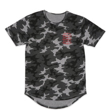 Load image into Gallery viewer, Kilos To Brooklyn Scoop Tee in Gray Camo